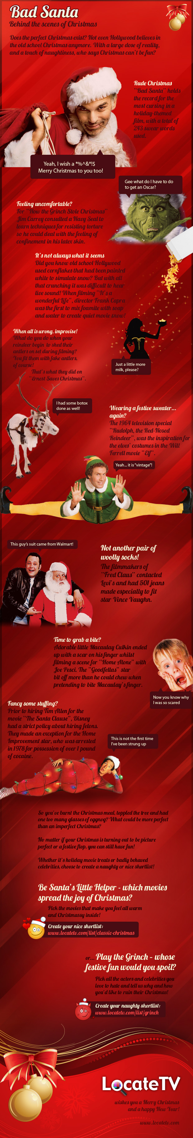 Bad Santa: Behind the Scenes of Christmas [INFOGRAPHIC ...