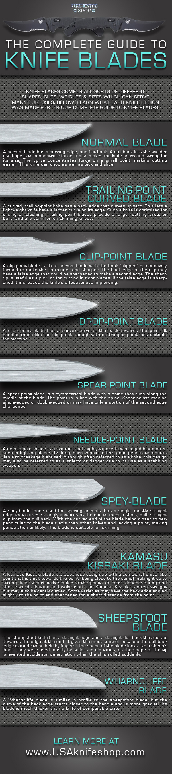 The Complete Guide To Knife Blades [INFOGRAPHIC ...