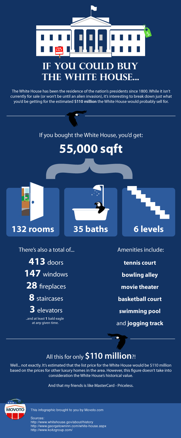 If you could buy the white house infographic for How much does a basketball court cost