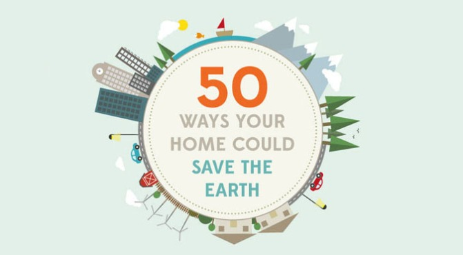 50 ways your home could save the earth [INFOGRAPHIC] #home #save #earth #infographic